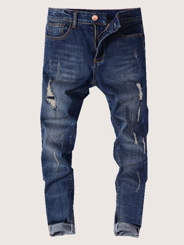Men Ripped Fade Jeans | Amy's Cart Singapore