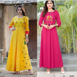 2 Pcs of Ariya Designer Stylish Rayon Kurtis