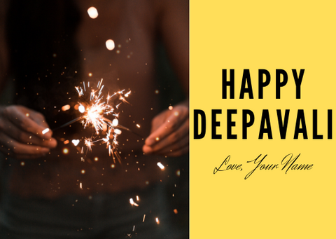 HAPPY DEEPAVALI - GREETING CARD | Amy's Cart Singapore