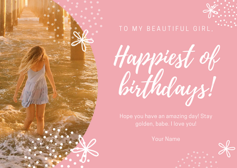 HAPPIEST OF BIRTHDAYS - GREETING CARD | Amy's Cart Singapore