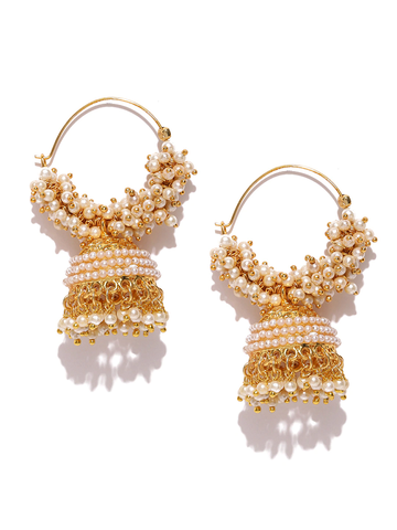 Off-White Gold-Plated Jhumkas