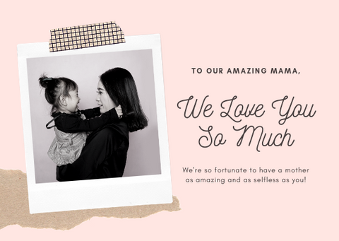 WE LOVE YOU MOM - GREETING CARD | Amy's Cart Singapore