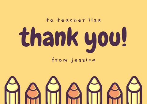 THANK YOU TEACHER - GREETING CARD | Amy's Cart Singapore