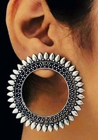 Trendy Oxidized Metal Earring