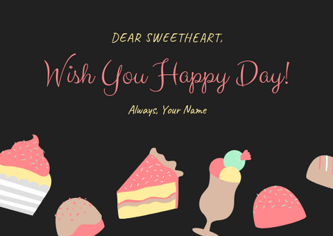 WISH YOU A HAPPY DAY - GREETING CARD | Amy's Cart Singapore