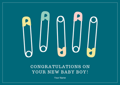 CONGRATS ON YOUR NEW BABY BOY - GREETING CARD | Amy's Cart Singapore