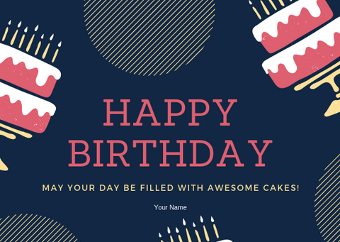 AWESOME CAKES - GREETING CARD | Amy's Cart Singapore