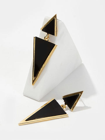 Double Triangle Shaped Drop Earrings 1pair | Amy's Cart Singapore