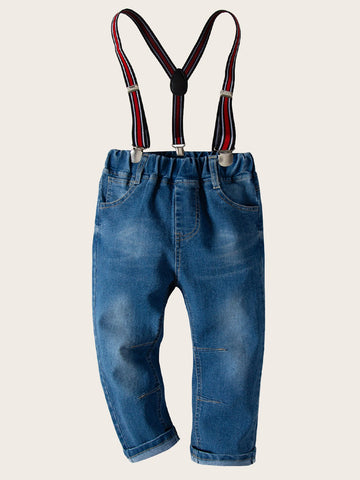 Toddler Boys Jeans With Suspenders | Amy's Cart Singapore