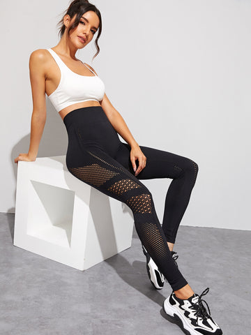 Cut Out High Waist Skinny Leggings | Amy's Cart Singapore