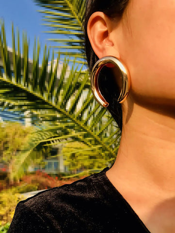 Cut Hoop Earrings 1pair | Amy's Cart Singapore