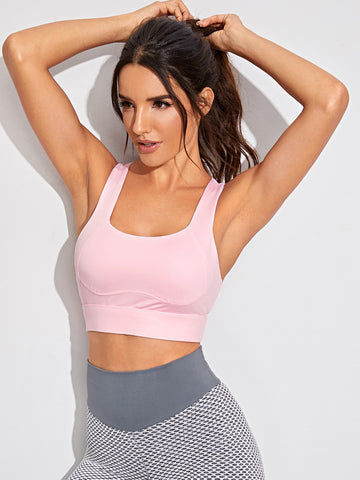 Cut Out Acer Back Tank Sports Bra | Amy's Cart Singapore
