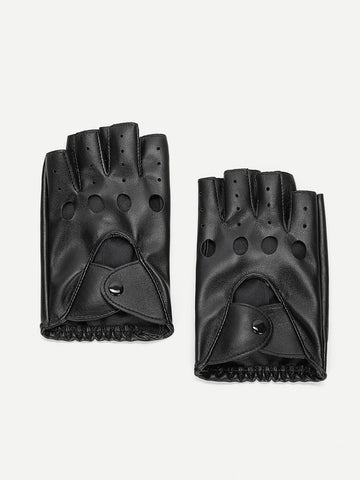 Men Hollow Out Half Finger Gloves | Amy's Cart Singapore