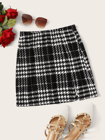 Plaid Textured Skirt | Amy's Cart Singapore