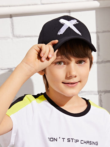 Toddler Kids X Embroidery Baseball Cap | Amy's Cart Singapore