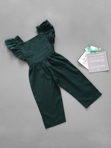 Toddler Girls Frill Trim Solid Jumpsuit | Amy's Cart Singapore