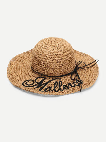 Letter Detail  Bow Knot Straw Hat | Amy's Cart Singapore