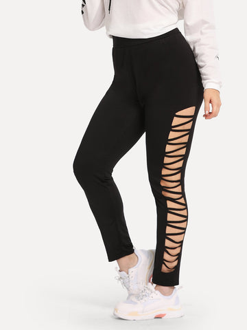 Plus Cut Out Leggings | Amy's Cart Singapore