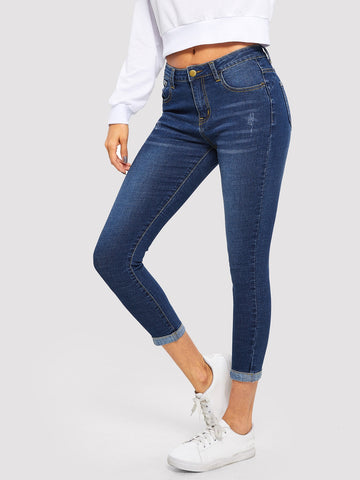 Bleach Wash Skinny Jeans | Amy's Cart Singapore