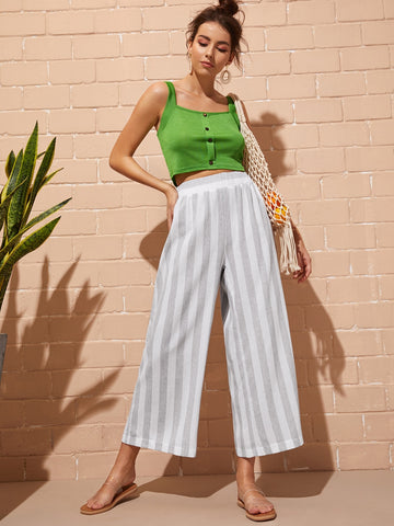 Striped Wide Leg Pants | Amy's Cart Singapore