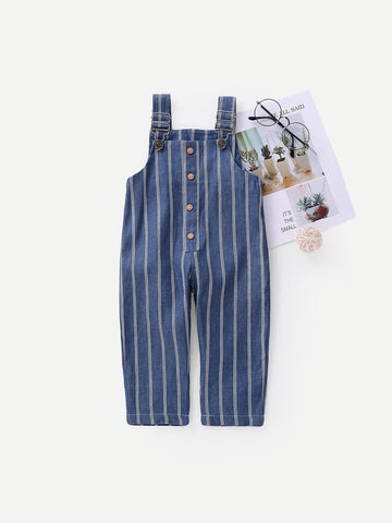 Toddler Girls Striped Overalls | Amy's Cart Singapore