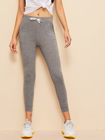 Drawstring Waist Slant Pocket Sweatpants | Amy's Cart Singapore