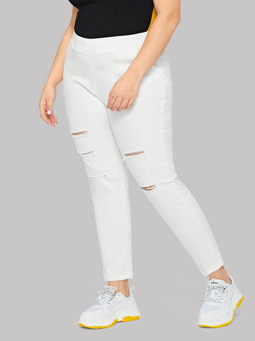 Plus Cut Out Jeans | Amy's Cart Singapore