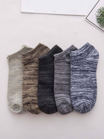Men Space Dye Ankle Socks 5pairs | Amy's Cart Singapore