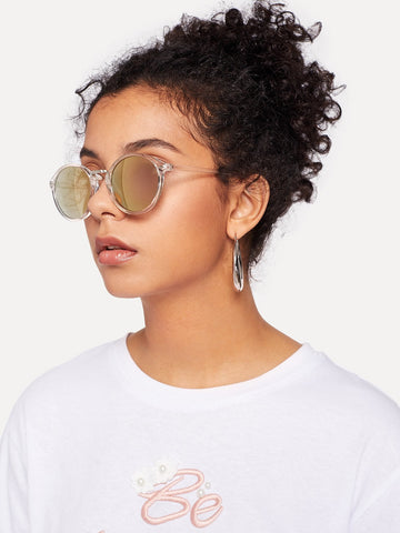 Clear Frame Mirror Lens Sunglasses | Amy's Cart Singapore