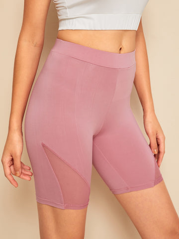 Sheer Mesh Insert Cycling Shorts | Amy's Cart Singapore