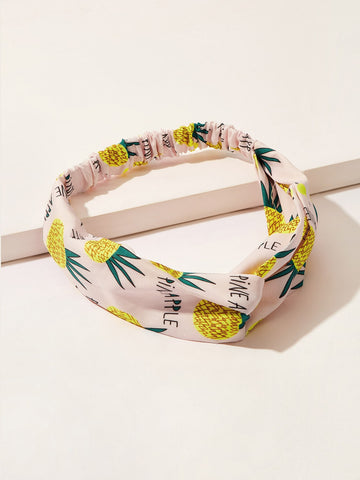 Girls Pineapple Pattern Twist Headband | Amy's Cart Singapore