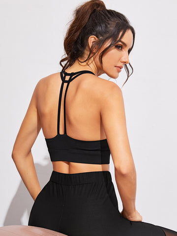 Solid Backless Sports Bra | Amy's Cart Singapore