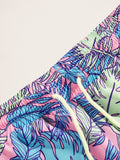 Men Tropical Print Drawstring Waist Shorts | Amy's Cart Singapore