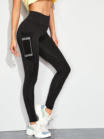 Pocket Side Solid Skinny Leggings | Amy's Cart Singapore