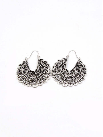 Hollow Out Statement Earrings 1pair | Amy's Cart Singapore