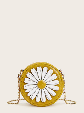 Daisy Decor Round Shaped Chain Bag | Amy's Cart Singapore