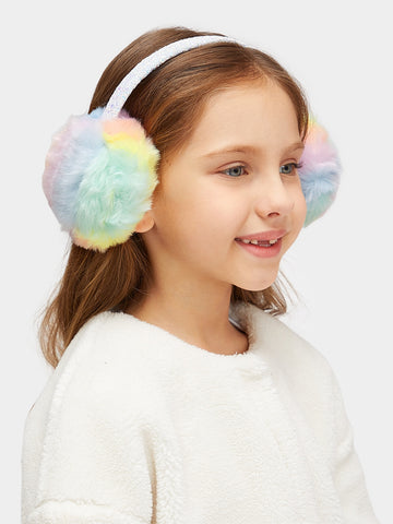 Girls Faux Fur Glitter Earmuff | Amy's Cart Singapore