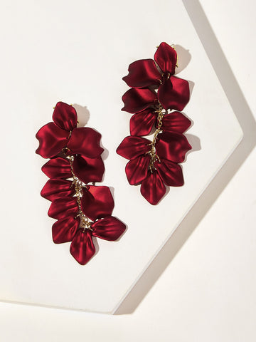 Petal Detail Drop Earrings 1pair | Amy's Cart Singapore