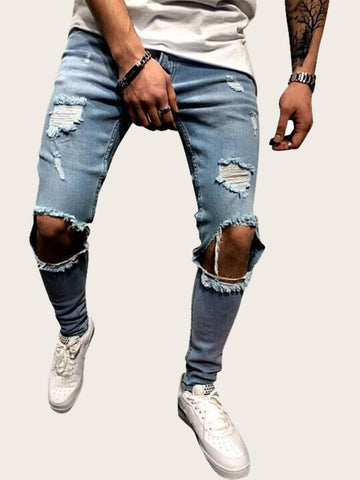 Men Ripped Skinny Jeans | Amy's Cart Singapore