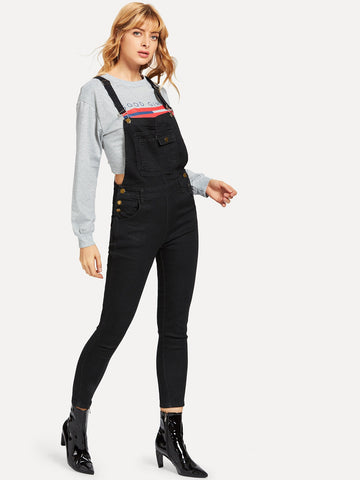 Pocket Front Denim Overalls | Amy's Cart Singapore