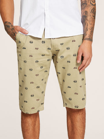 Men Bike & Letter Print Cargo Shorts | Amy's Cart Singapore