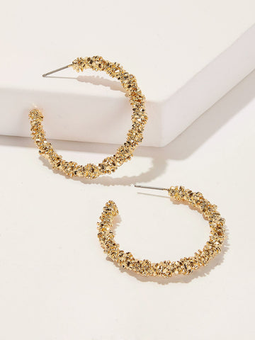 Glitter Hoop Earrings 1pair | Amy's Cart Singapore