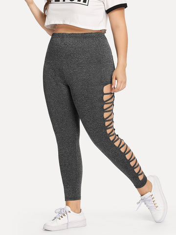 Plus Cut Out Side Leggings | Amy's Cart Singapore
