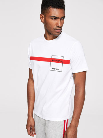 Men Striped Tunic Tee | Amy's Cart Singapore