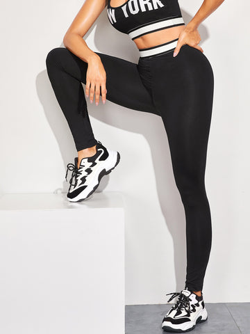 Taped Waist Skinny Leggings | Amy's Cart Singapore