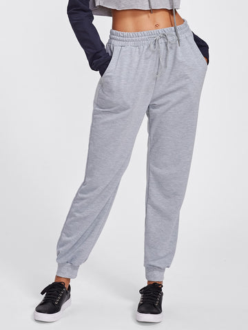 Drawstring Marled Sweatpants | Amy's Cart Singapore