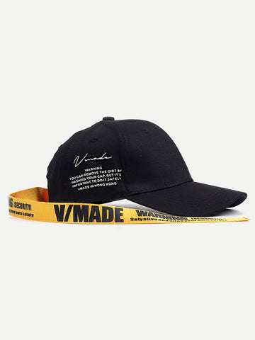 Men Long Strap Letter Print Baseball Cap | Amy's Cart Singapore
