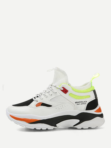 Men Lace-up Front Chunky Sole Trainers | Amy's Cart Singapore