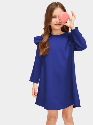 Girls Ruffle Trim Tunic Dress | Amy's Cart Singapore