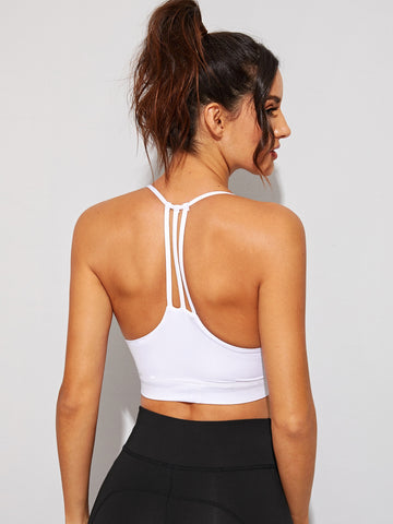 Solid Crop Cami Sports Bra | Amy's Cart Singapore